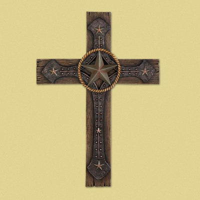 Rustic Cowboy Wall Cross - crazydecor