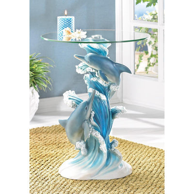 Playful Dolphins Accent Table - crazydecor
