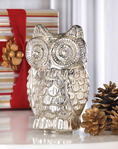 Quilted Owl Figurine - crazydecor