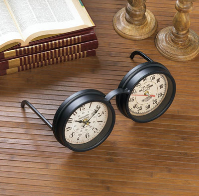 Vintage Spectacles Tabletop Clock - crazydecor