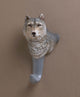 Gray Wolf Wall Hook - crazydecor