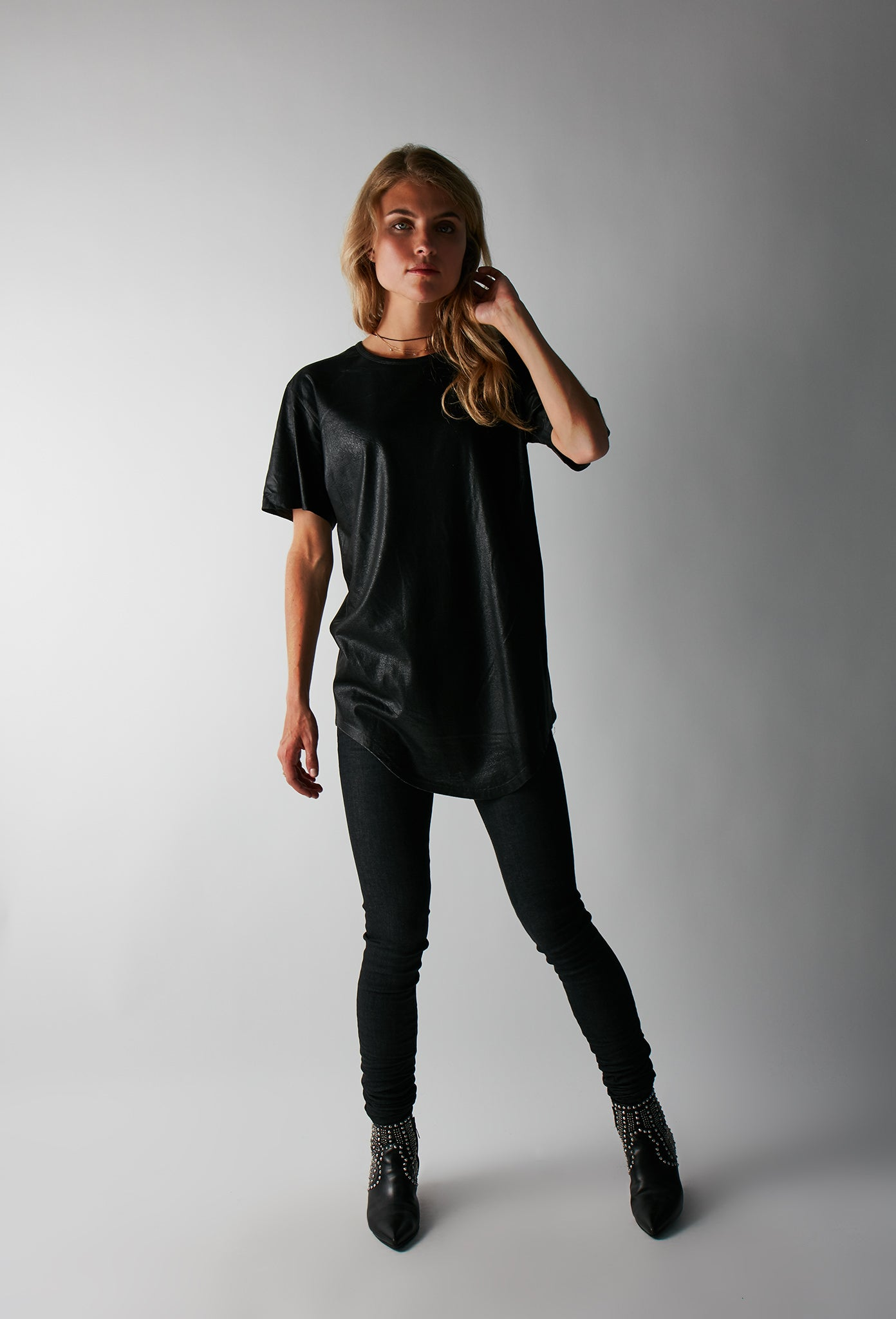Cameron Curved Coated Tee