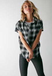 Charlie Cut-Off Shirt - Grey Plaid