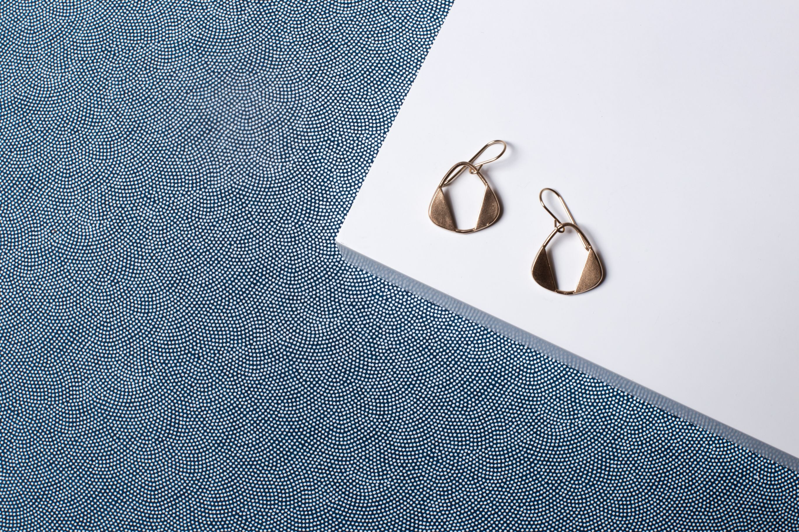 Brass Rounded Triangle Earrings