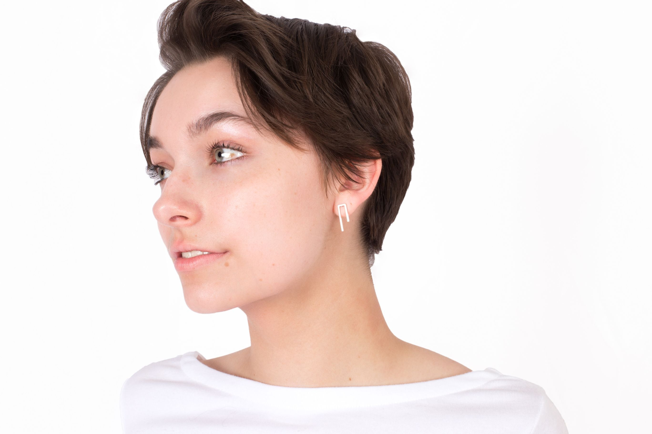Short Line Bar Earrings