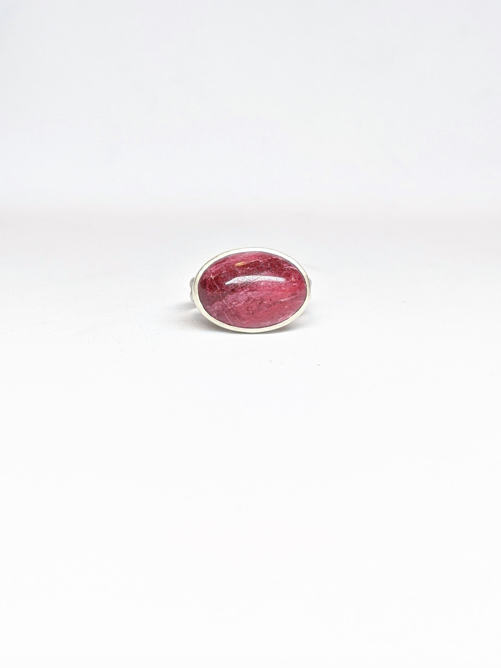 Norwegian Thulite Double Band Ring - Size 8.5