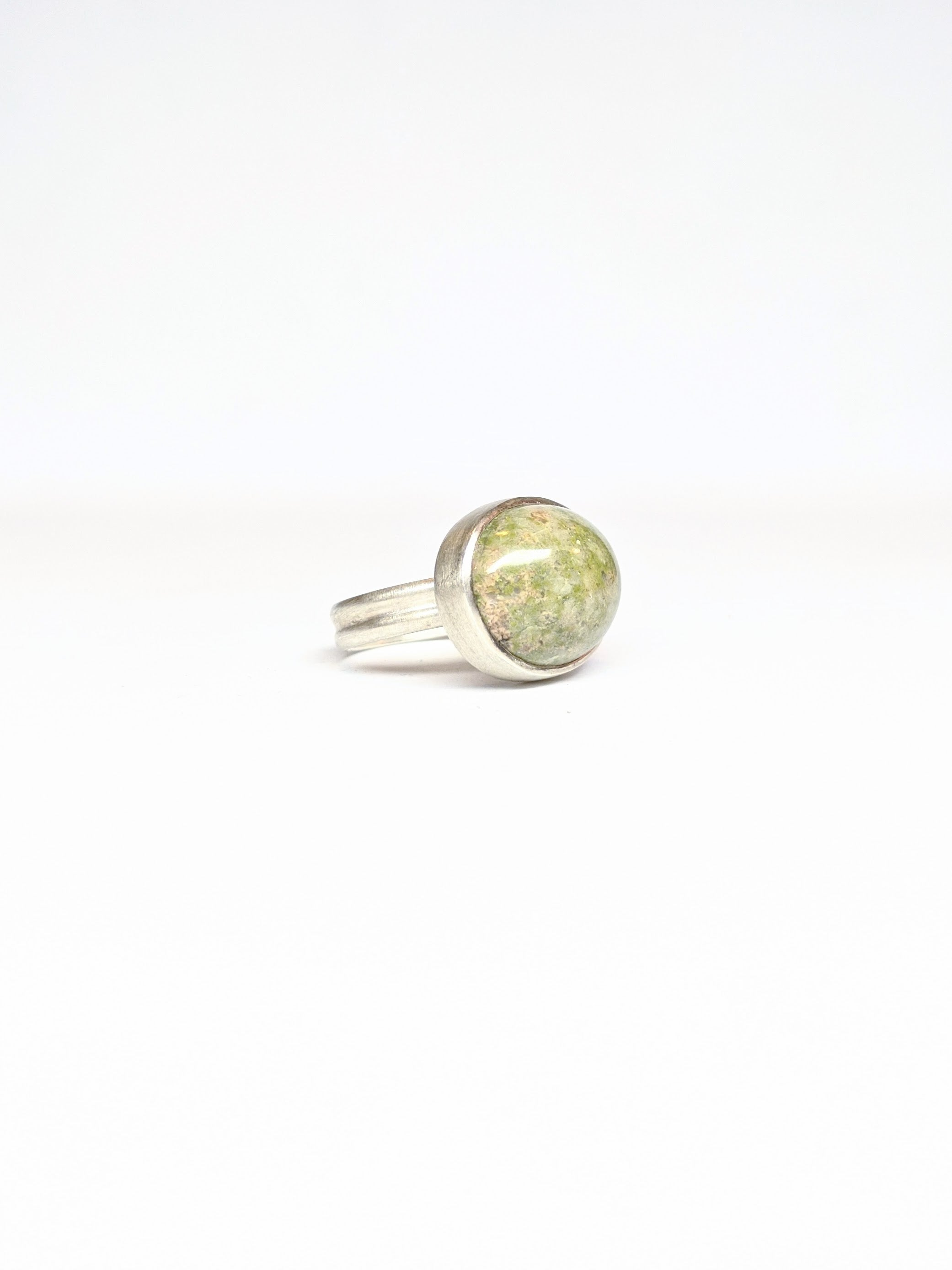 California Green Jasper Ring - Size 7.25