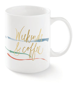 FRINGE STUDIO WEEKENDS AND COFFEE MUG