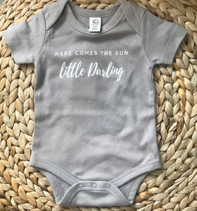 Here Comes The Sun Onesie: Grey Size 0-3M