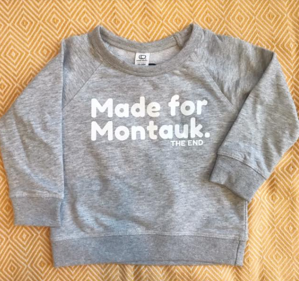 Made For Montauk Crew Neck Sweatshirt (Heather Grey): Size 6-12M
