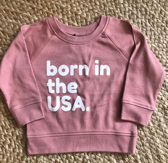 Copy of Born In The USA Baby/kids Crewneck Sweatshirt 12-18months