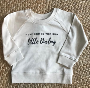Here Comes The Sun baby/kids crewneck sweatshirt- 6-12months