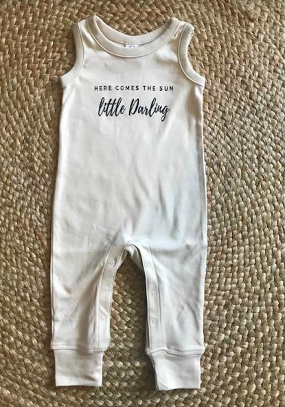 Copy of Copy of Here Comes The Sun Tank Romper: NATURAL