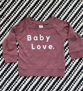 Baby Love Crew Neck Sweatshirt: Berry