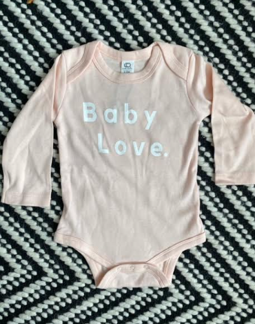 Baby Love L/S Onesie: Blossom