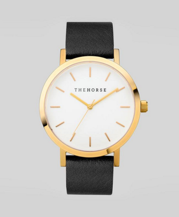 Polished Gold / White Face / Black Band