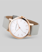 Polished Rose Gold / White Face / Grey Band