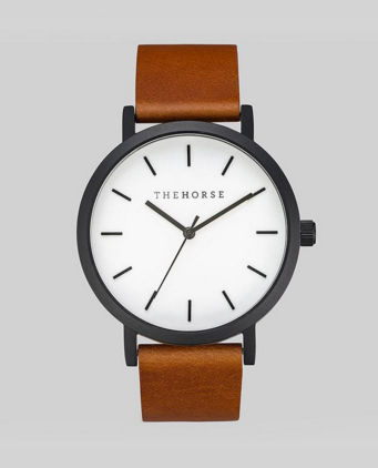 Matte Black / White Face / Tan Leather