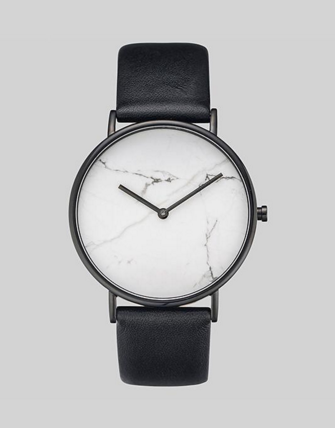 White Stone / Black Leather
