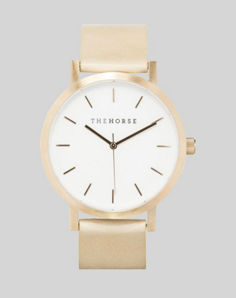 Brushed Rose Gold / Natural Vegetable Tan