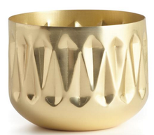 Winter White Radiant Metal Candle