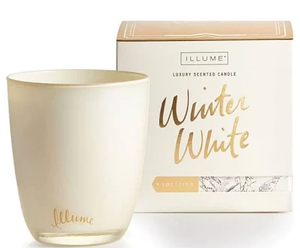 Winter White Boxed Glass Candle