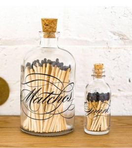 "Calligraphy mini ""SPARK"" Match Bottle"