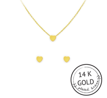Love Necklace & Earrings Set: GOLD
