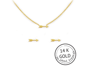 Unstoppable Necklace & Earrings Set: GOLD