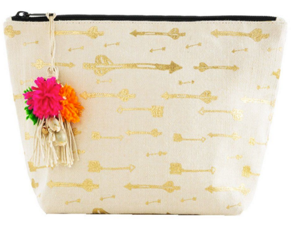 Arrows Cosmetic Pouch: GOLD