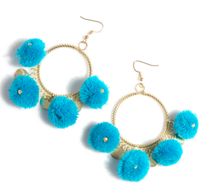 Zola Earrings: Turquoise