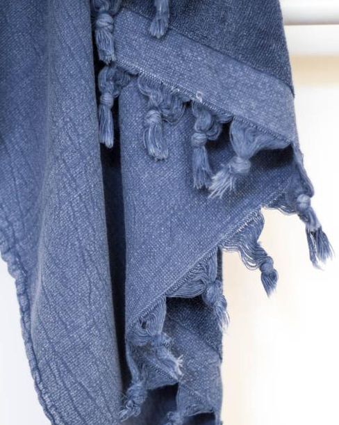KAYRA TERRY TURKISH TOWEL: INDIGO