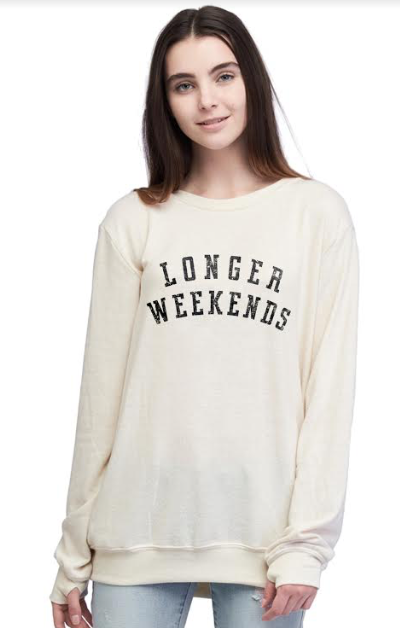 Time To Wine Down Crew Neck Sweatshirt: XS/SMALL