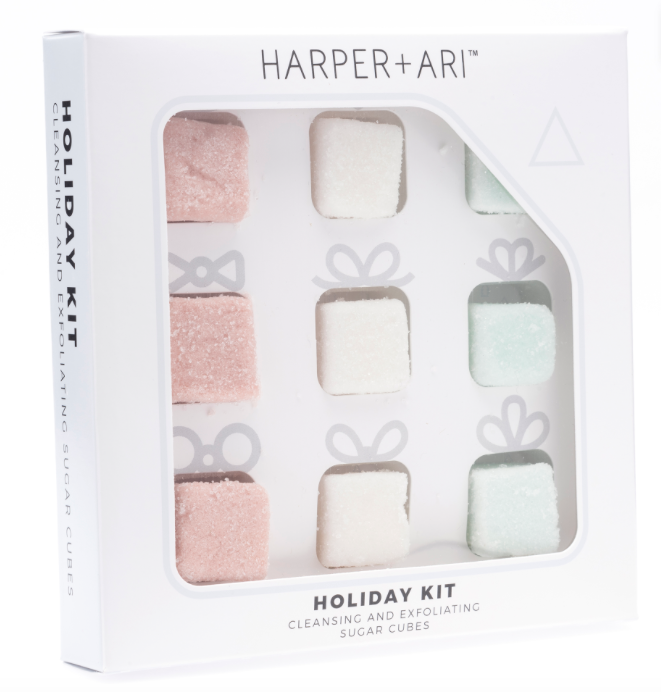 Holiday Exfoliating Sugar Cubes Gift Box Assortment