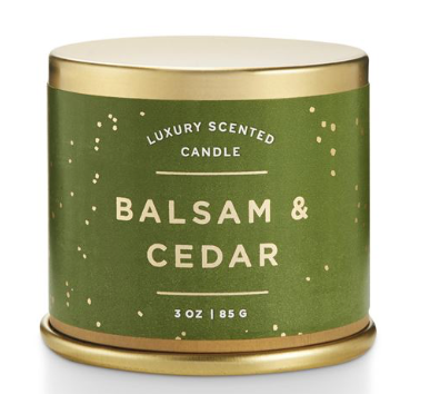 Balsam & Cedar: Large Candle Tin