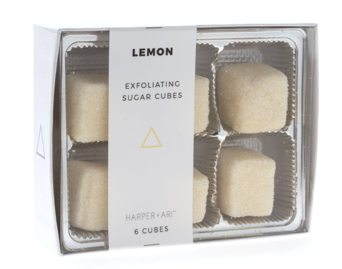 Exfoliating Sugar Cubes: Lemon Gift Box