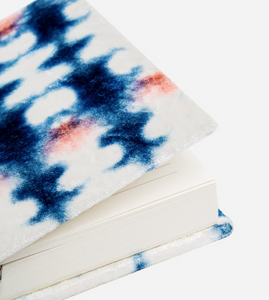 Indigo Inkblot Small Velvet Journal