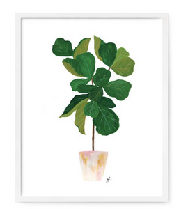 Fiddle Leaf Fig Tree Print 8x10