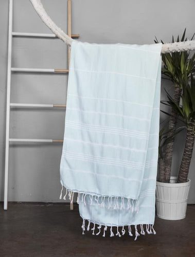 Authentic Light Turkish Towel: MINT