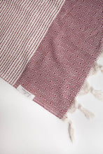 Hare Turkish Towel: BURGUNDY