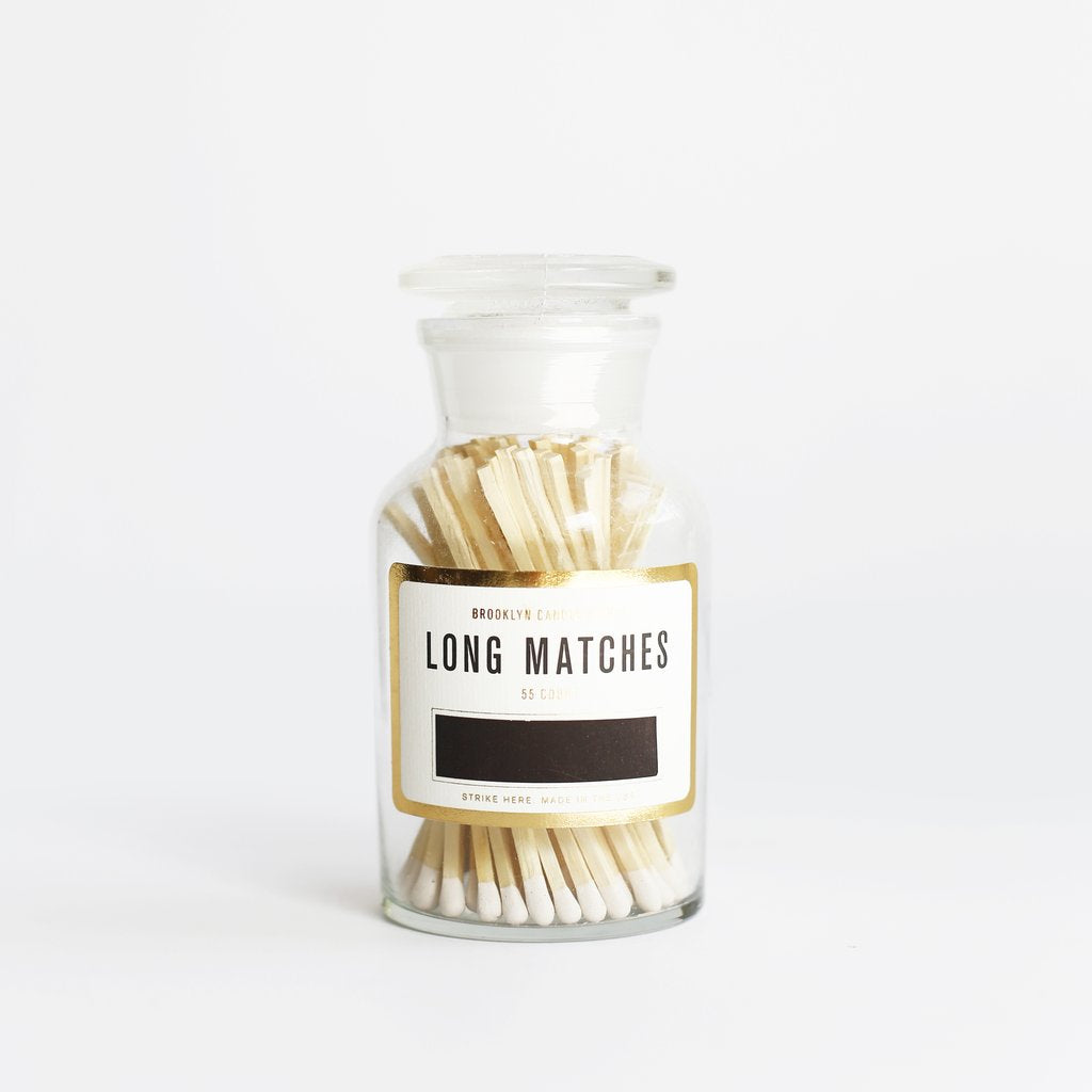 Apothecary Match Bottle: White