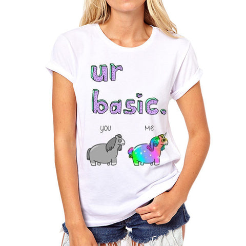 Women's Unicorn Print Summer Tee