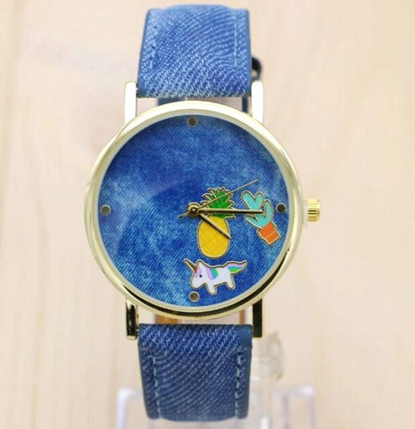 New Full Denim Woman Dress Watches