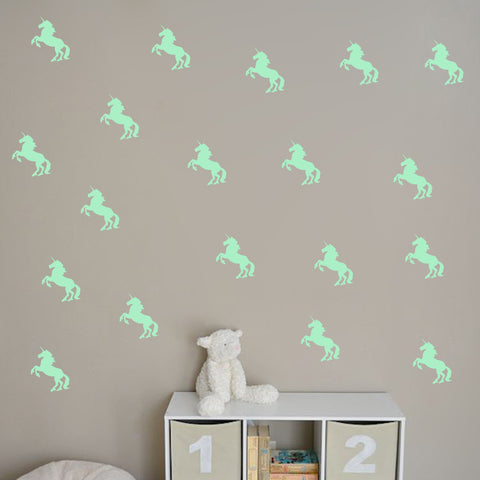 A happy Unicorn light-emitting  wall stickers