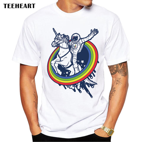Newest Galaxy Space Unicorn Men's T shirt