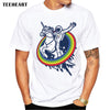Image of Newest Galaxy Space Unicorn Men's T shirt