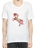 Image of Flower Unicorn T-Shirt For Men