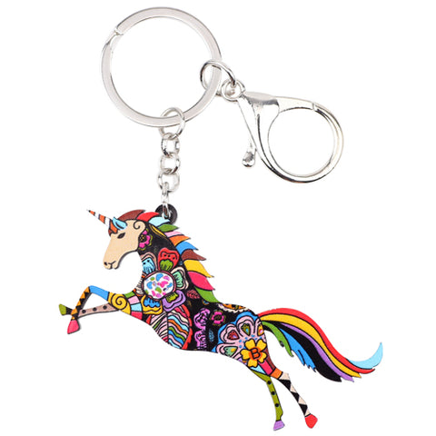 Acrylic Unicorn Key Chain