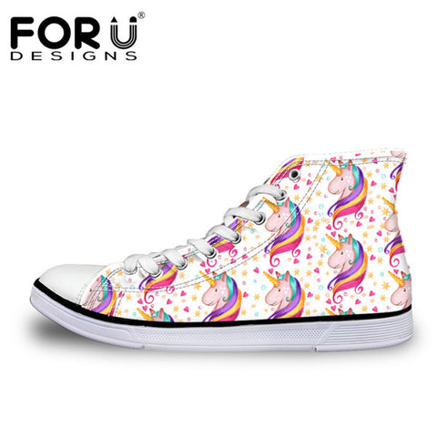 Hot Sale  Unicorn Design Women Classic High Top