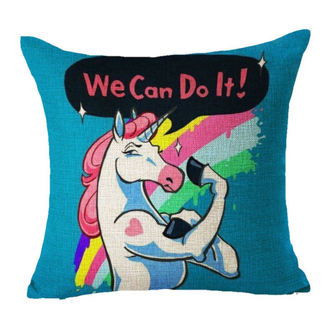 Unicorn Home Decorative Pillow Cover